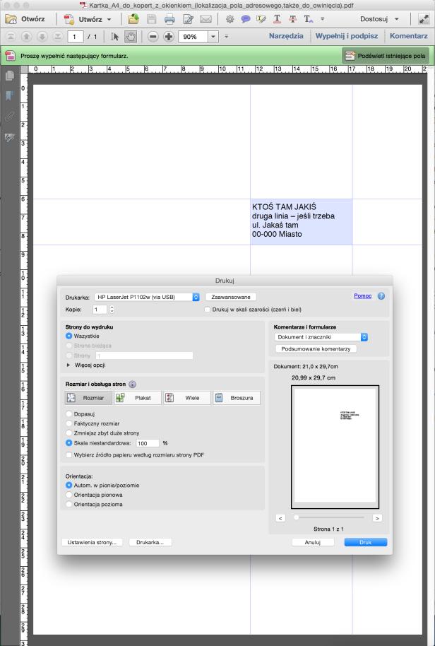 Zrzut ekranu Kartka_A4_do_kopert_z_okienkiem - okno drukowania.png